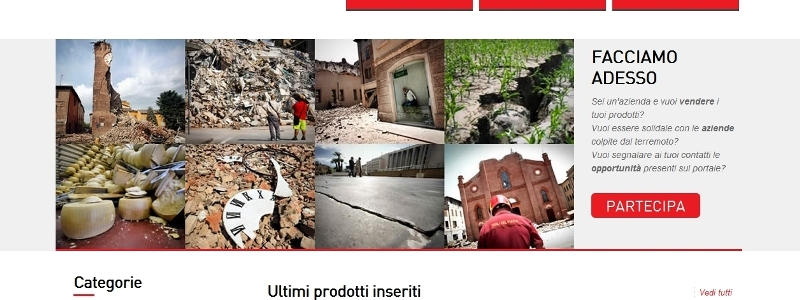 La vetrina sul web delle imprese colpite dal terremoto in Emilia